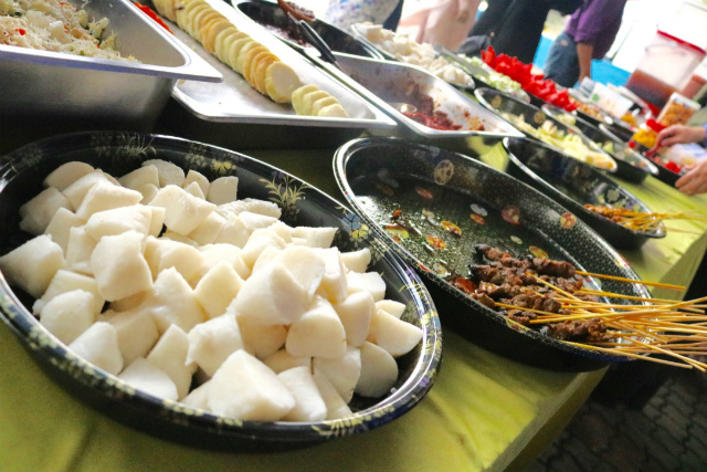 Variety of traditional Malay foods in OK-6